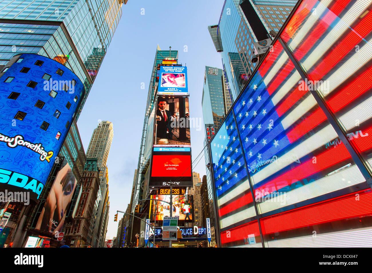La città di New York Times Square Immagini Stock