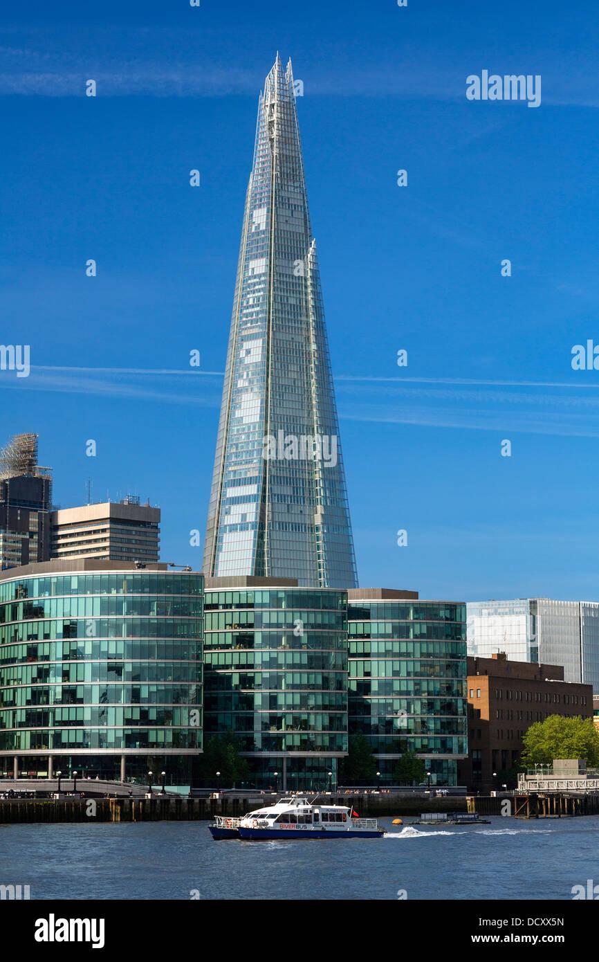 Londra, Shard London Bridge Immagini Stock