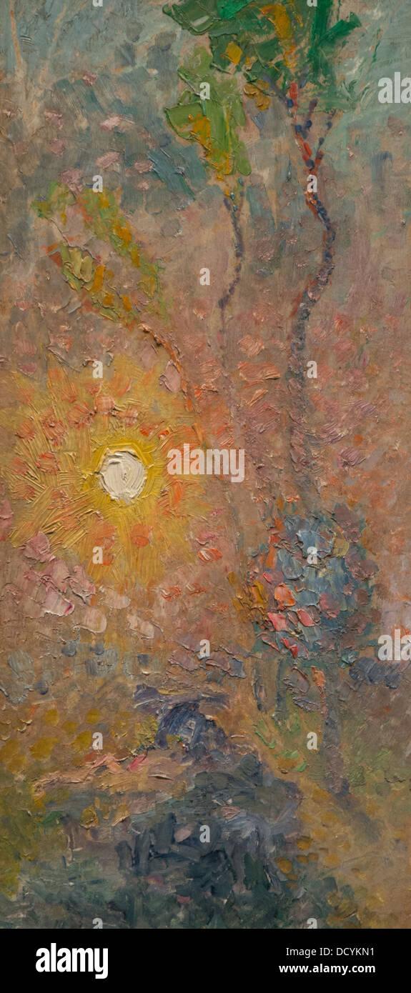 Xx secolo - Sun Studio - Rihard Jakopic (1905) Philippe Sauvan-Magnet / Museo attivo olio su tela Immagini Stock