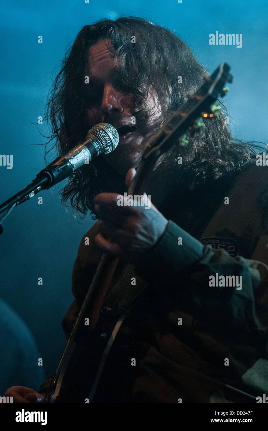 """Torsten Kinsella, lead voice e il chitarrista della Irish post rock band """" Dio è un astronauta', concerto Immagini Stock"""