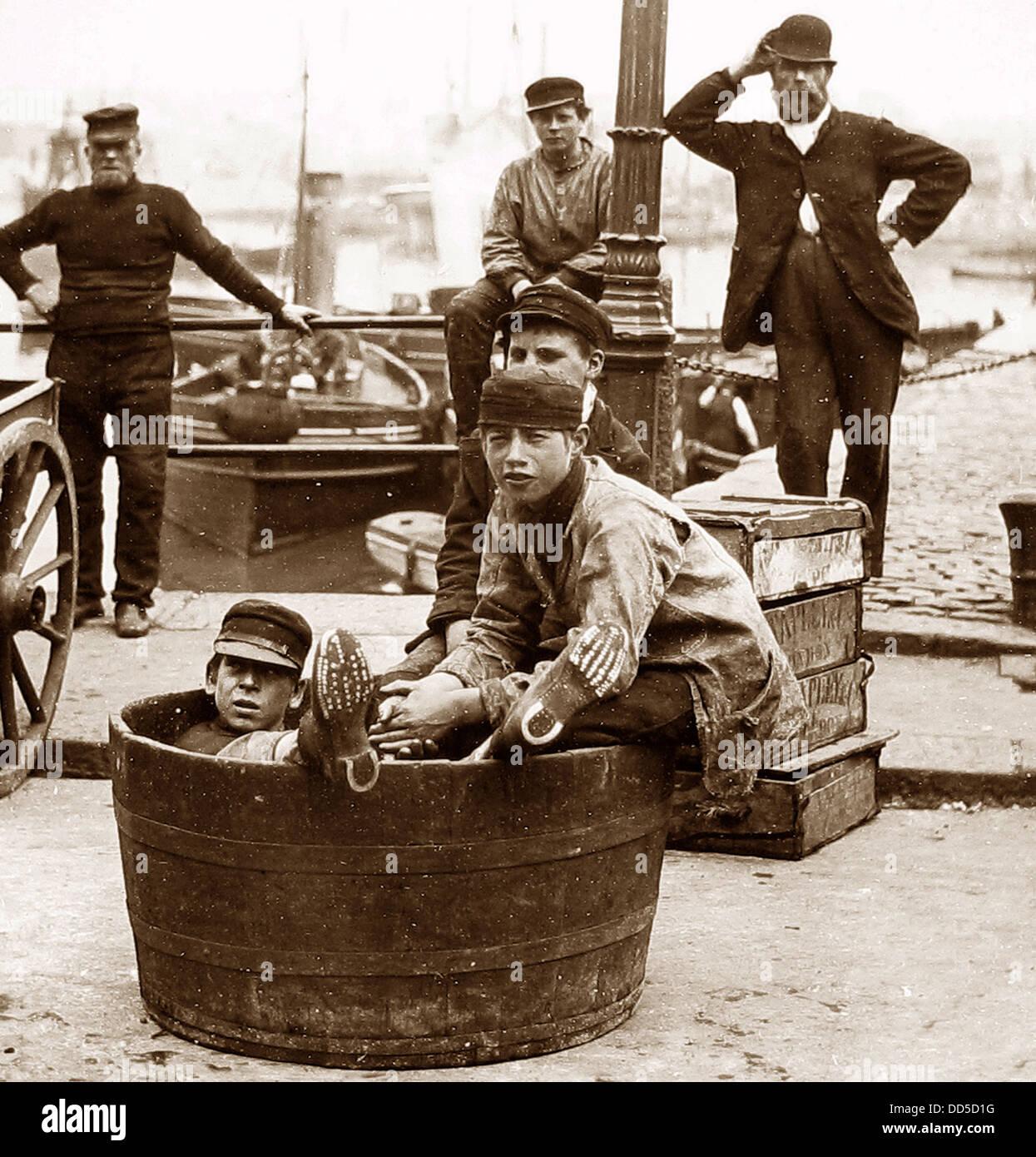Plymouth Docks periodo Vittoriano Immagini Stock
