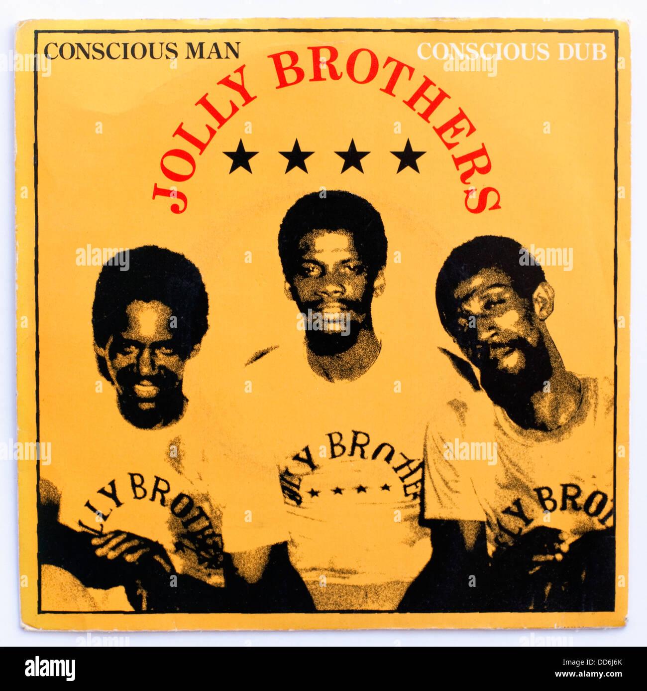 Jolly fratelli - uomo cosciente, 1978 7' immagine di copertina singolo su ballistic/ua Immagini Stock