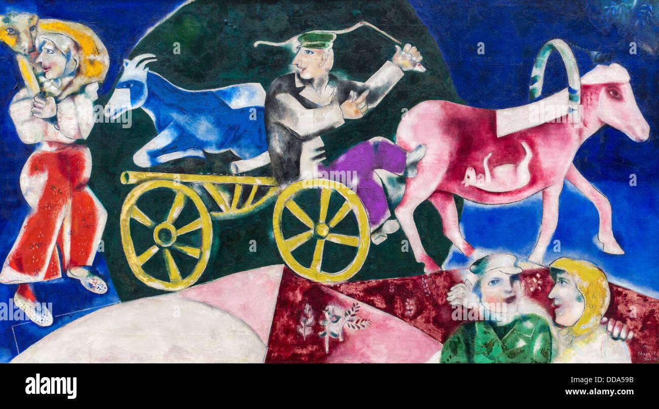 Xx secolo - Il bestiame Merchand, 1912 - Marc Chagall Philippe Sauvan-Magnet / Museo attivo Olio su tela Immagini Stock