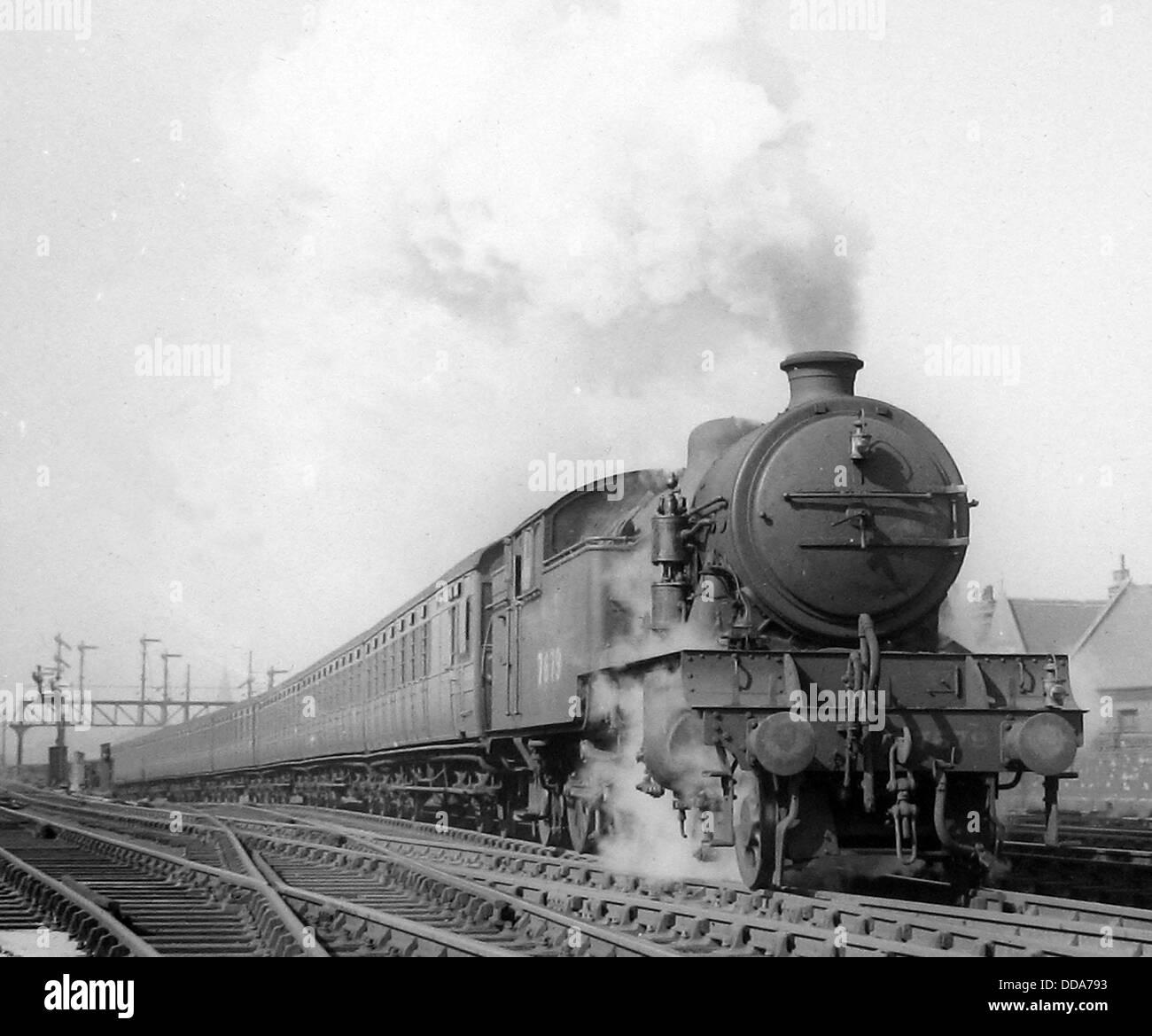 Locomotiva a vapore n. 7679 eventualmente 1930 Immagini Stock