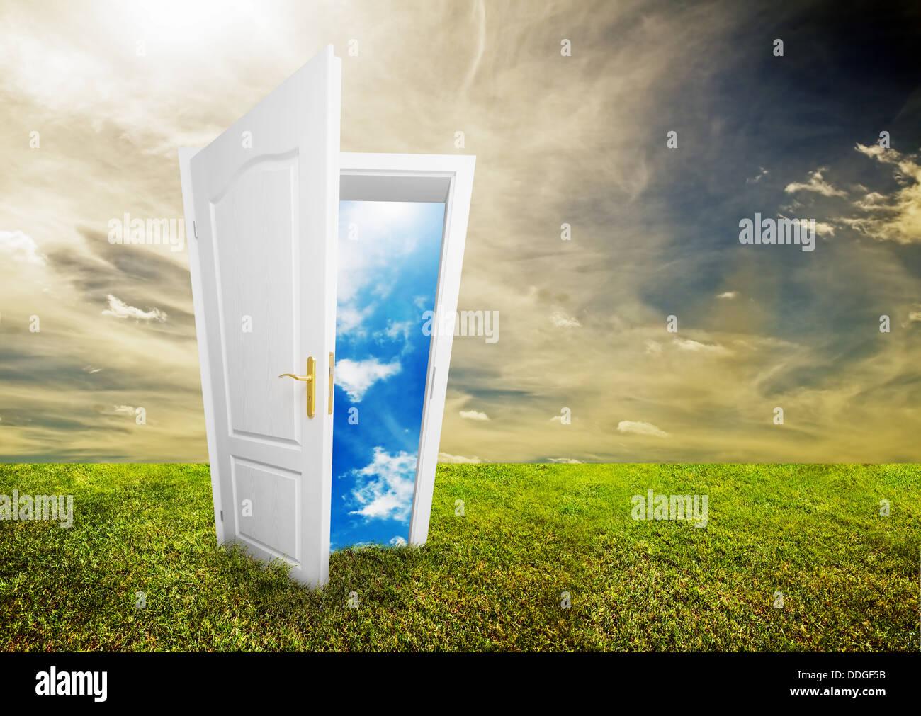 Futuro luminoso / concetto di scelte Immagini Stock