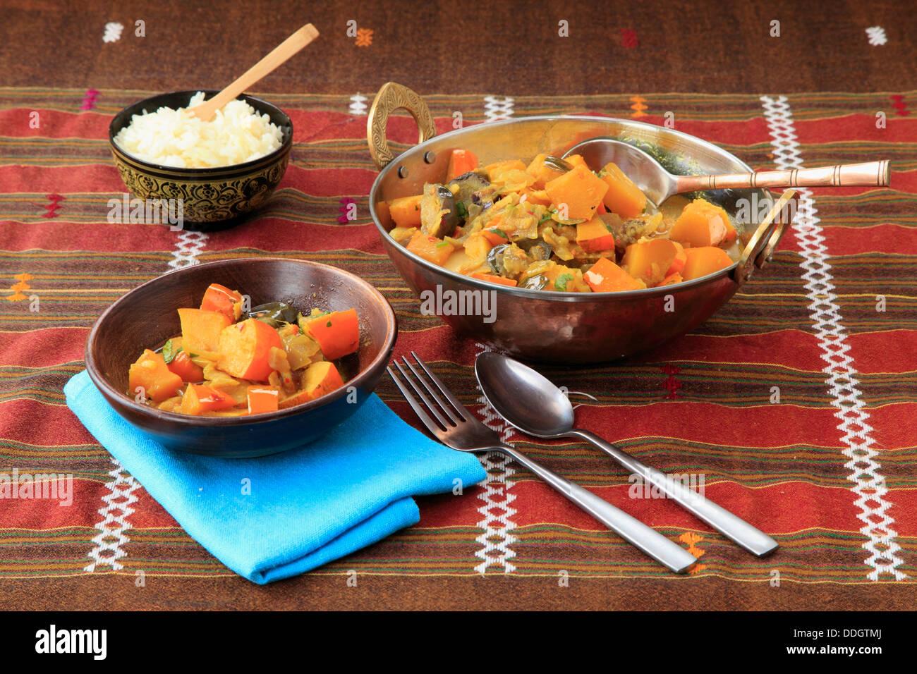 Tamarindo curry di zucca, Foto Stock