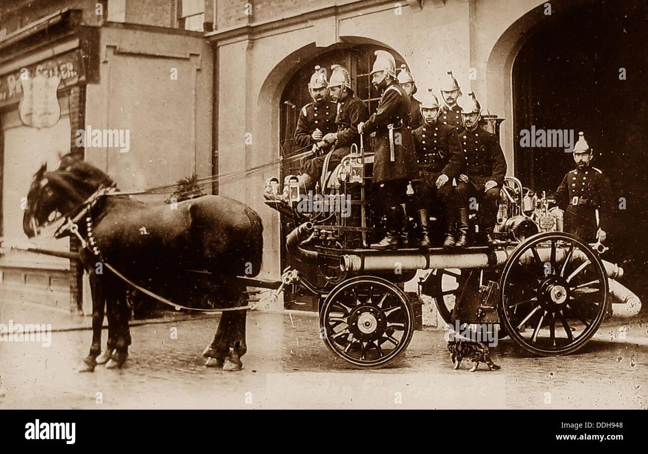 Croyden Vigili del fuoco nel 1910 Immagini Stock