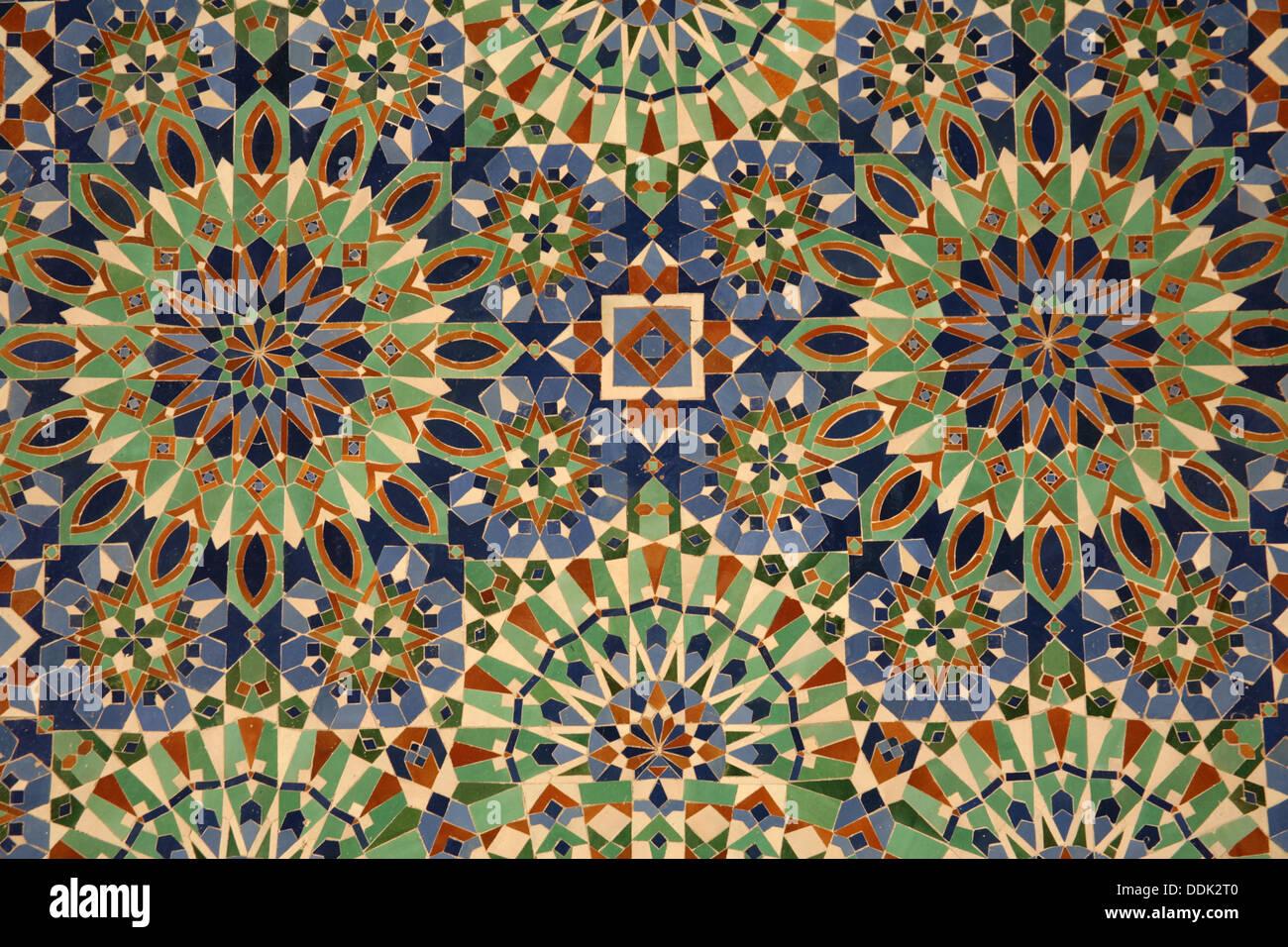 Zellige piastrelle ceramiche al hassan ii grande moschea di