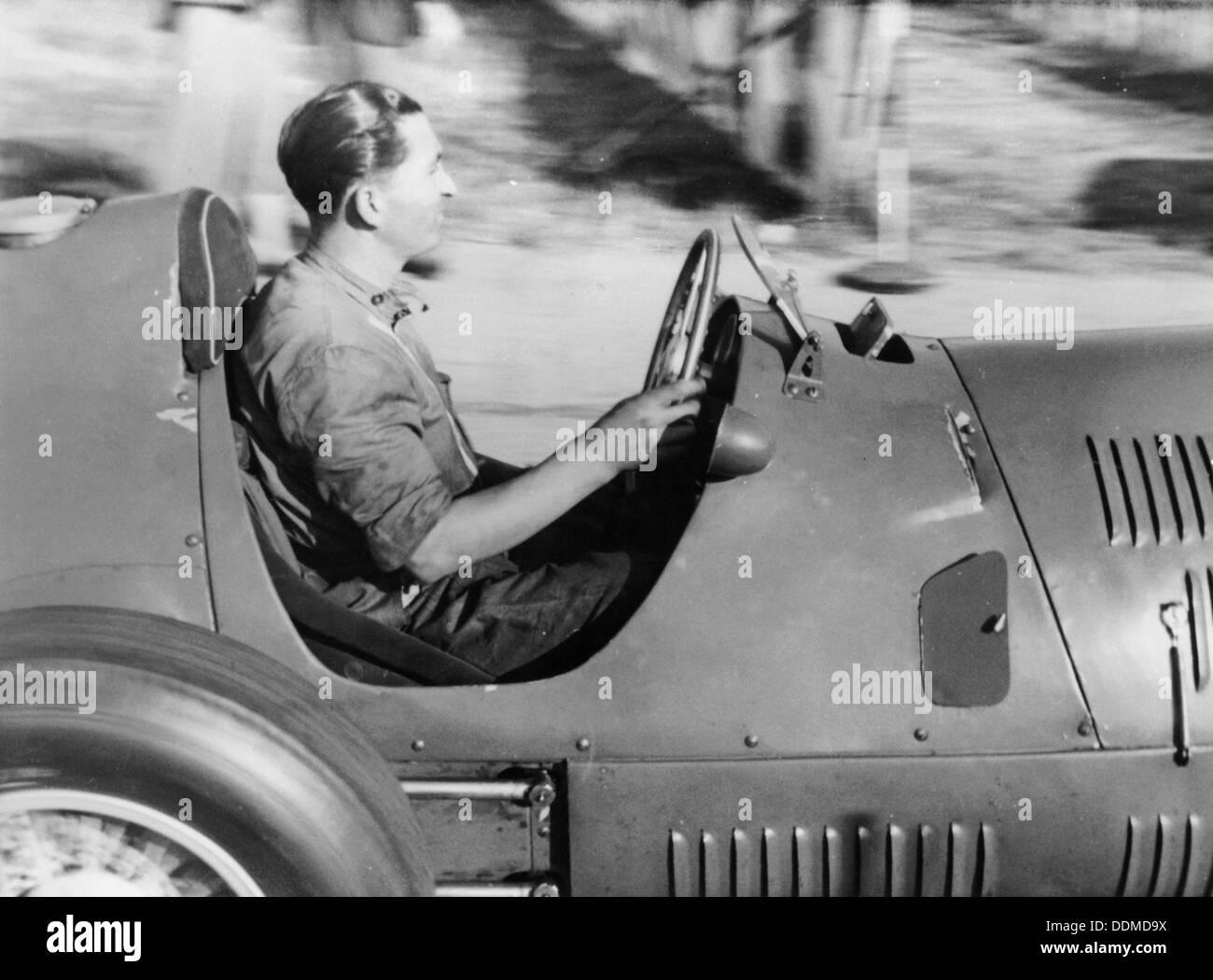 Alberto Ascari Al Volante Di Una Vettura Da Corsa Foto Immagine