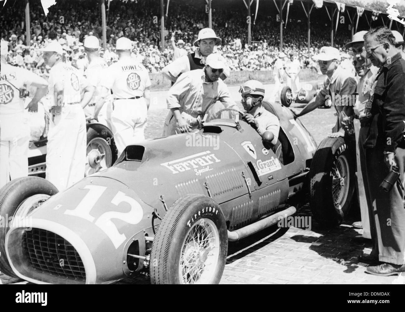 Alberto Ascari Al Volante Di Un 45 Litri Ferrari Indianapolis