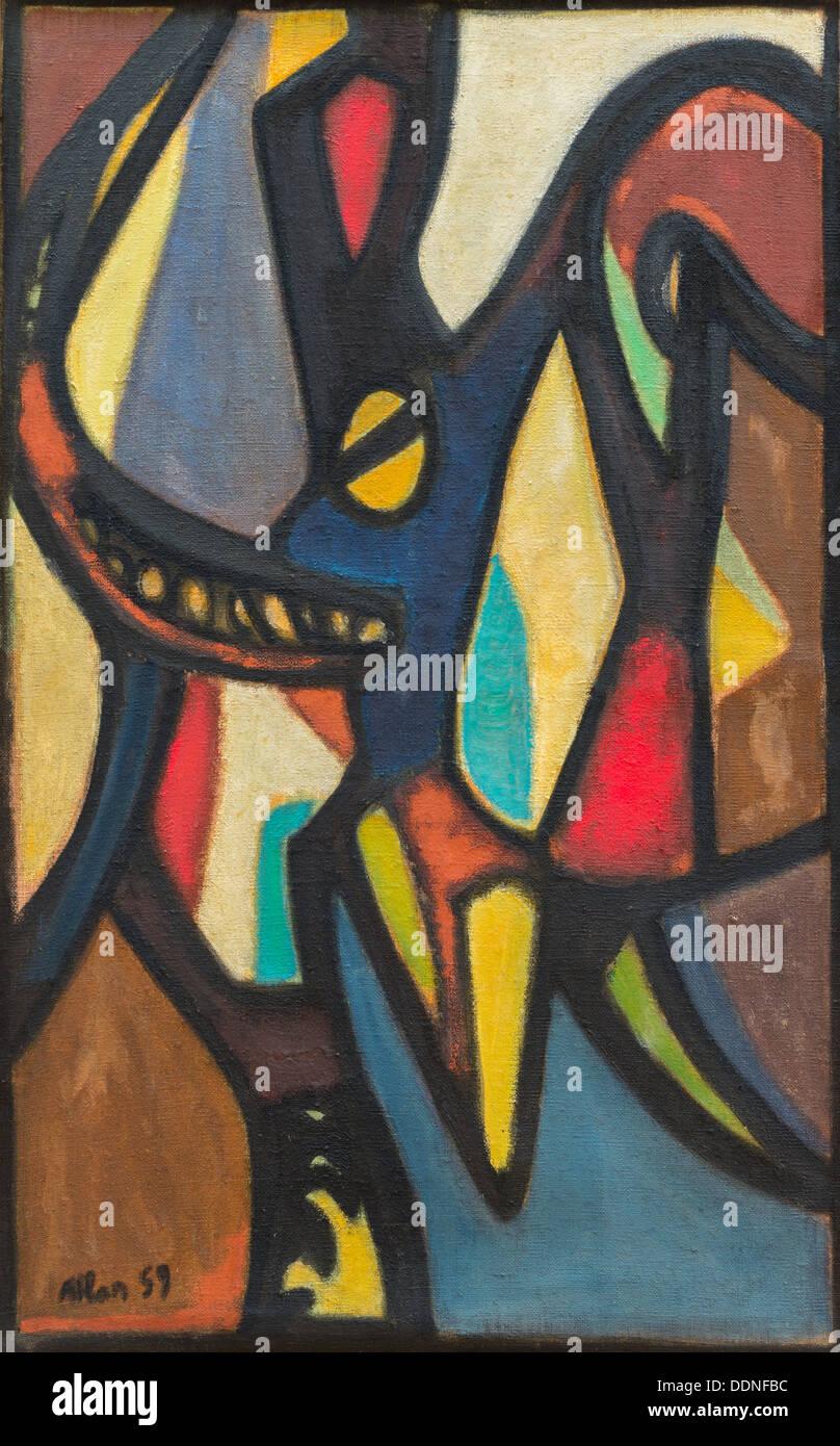 Xx secolo - Villiers, 1959 - Jean Philippe Atlan Sauvan-Magnet / Museo attivo Immagini Stock