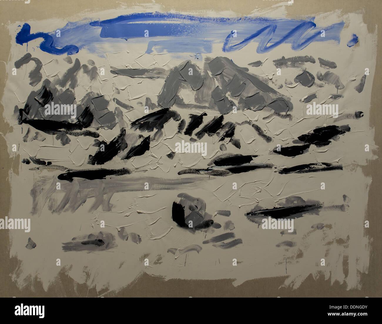 Xx secolo - Berg 1/1, 1981 - Christian Lindow Philippe Sauvan-Magnet / Museo attivo Immagini Stock