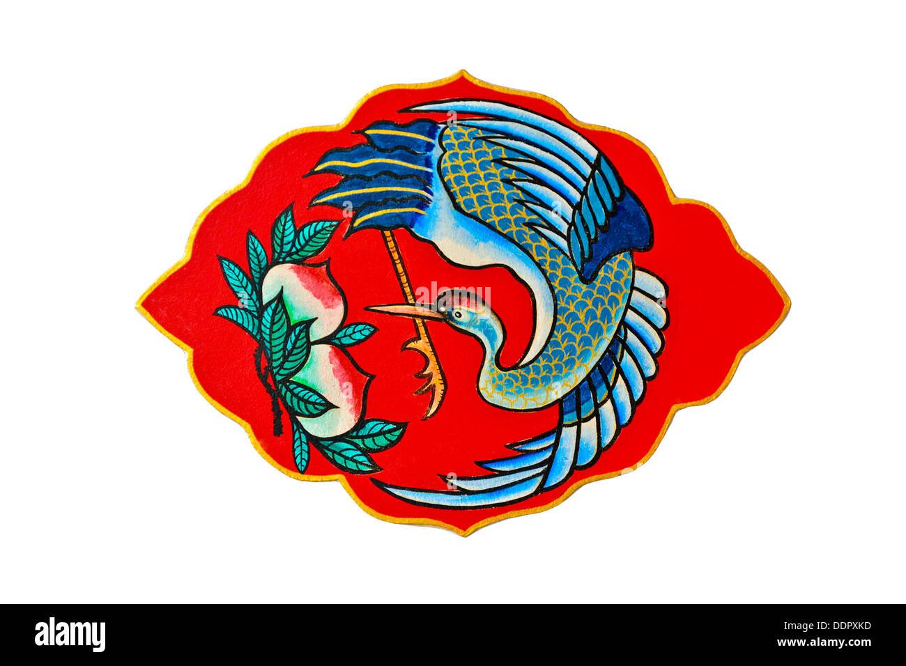 Gru uccello nella cultura cinese simboleggiano longevità ,anche rappresentare la vecchiaia Immagini Stock