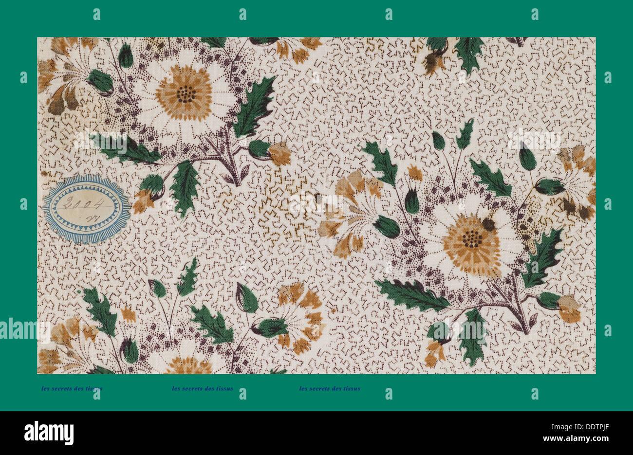 Tessuti francesi; prima metà XIX secolo; 1800; 1810; 1820; 1830; 1840; 1850 Immagini Stock