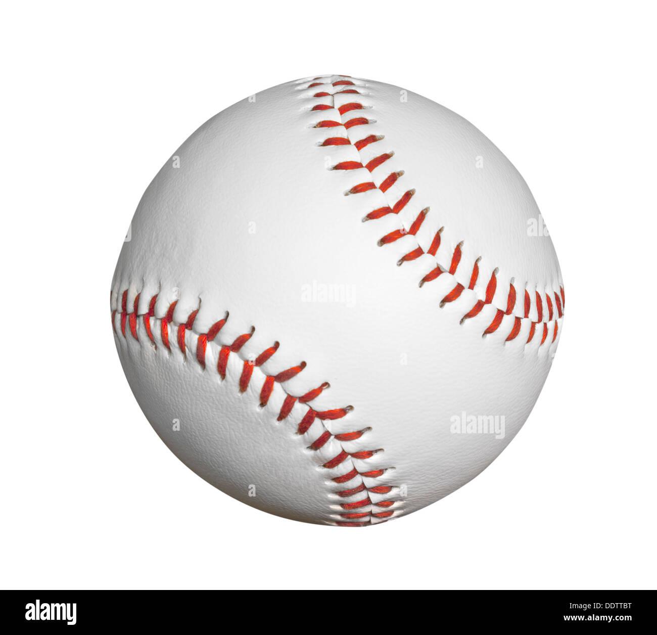 Nuovo baseball isolato con percorso di clipping. Immagini Stock