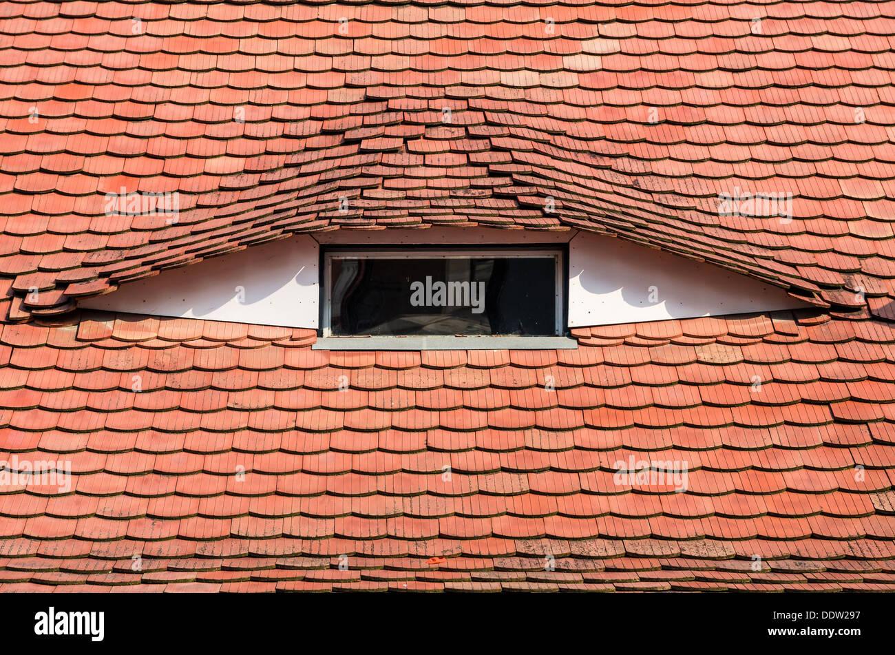 Sassone architettura medievale dettaglio nella città vecchia di Sibiu, in Transilvania. La Romania Immagini Stock