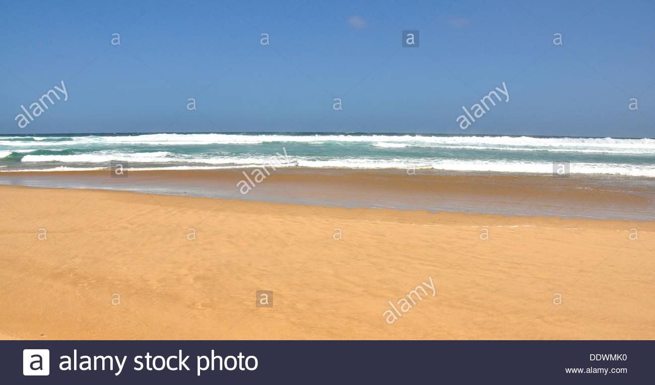 La spiaggia di natura Valle sulla Garden Route del Sud Africa. Immagini Stock