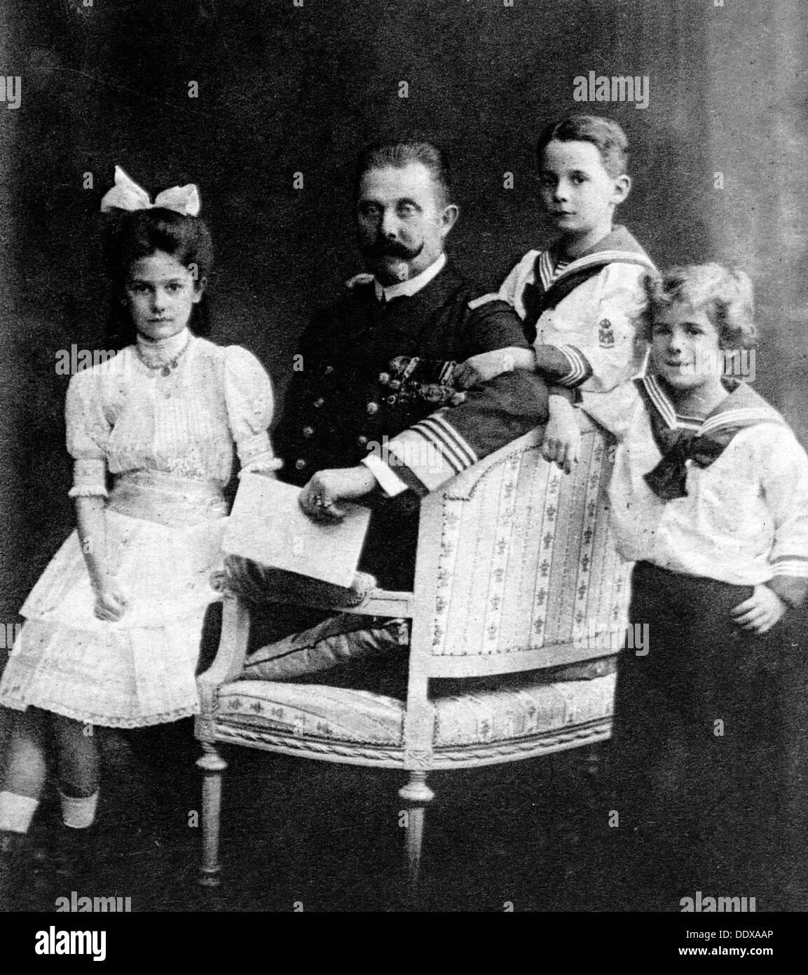 Franz Ferdinand e i suoi figli Immagini Stock