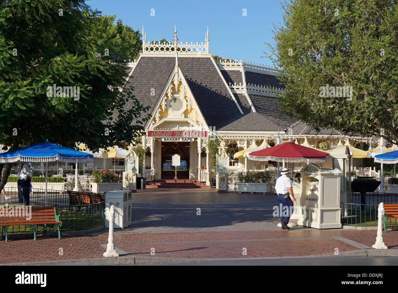 Disneyland, Jolly vacanza, il Bakery Cafe su Main Street, Anaheim, California Immagini Stock