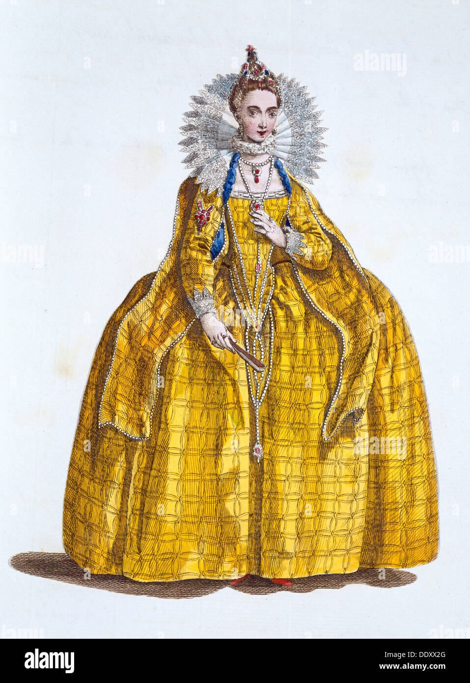 Elisabetta I, Regina d'Inghilterra, (xix secolo). Artista: sconosciuto Immagini Stock