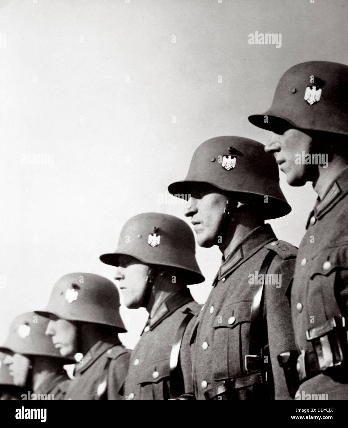 I soldati tedeschi, Germania, 1936. Artista: sconosciuto Immagini Stock