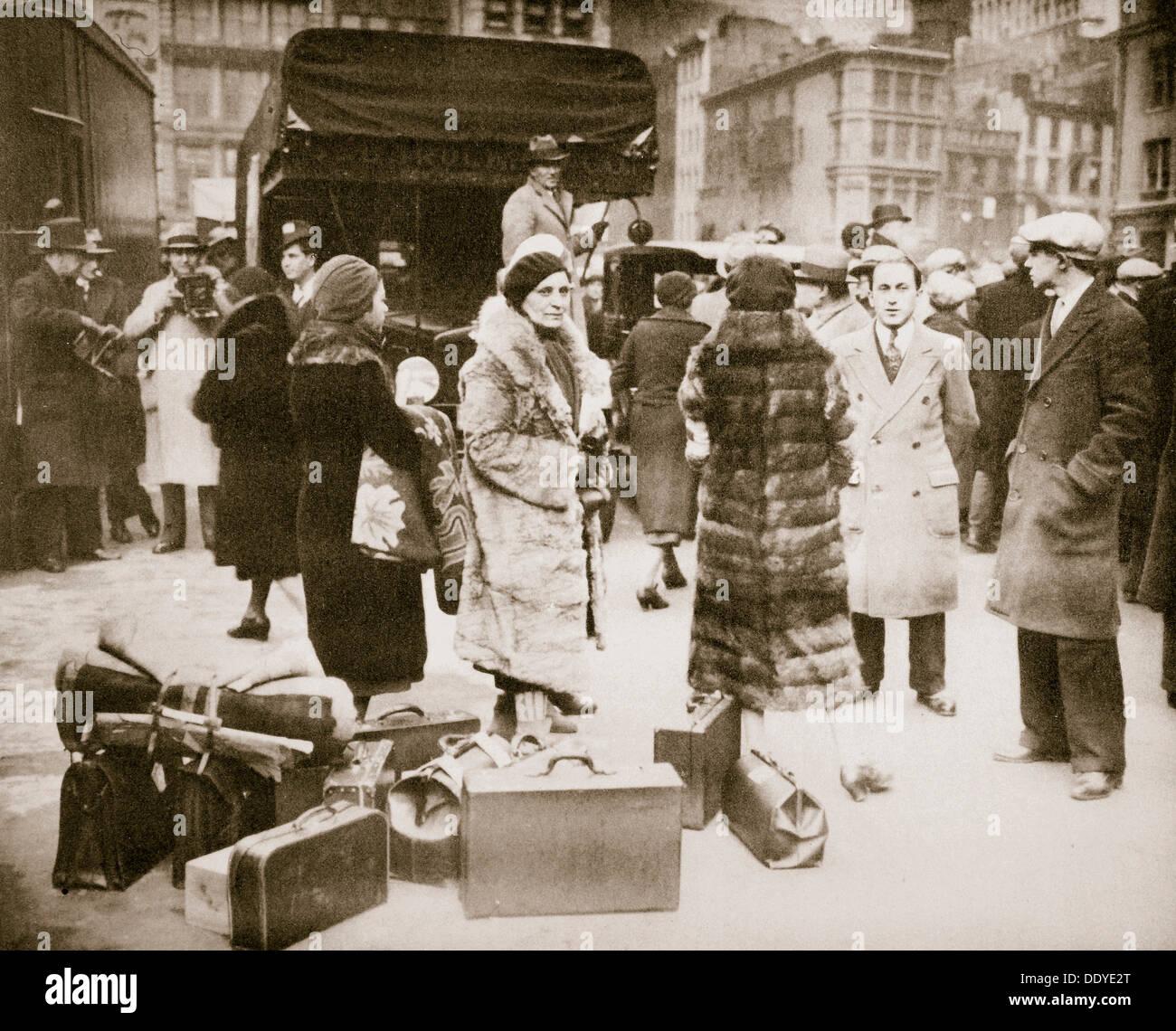 Radical 'fame dimostranti raduno in New York, Stati Uniti d'America, Grande Depressione, novembre 1932. Artista: sconosciuto Immagini Stock