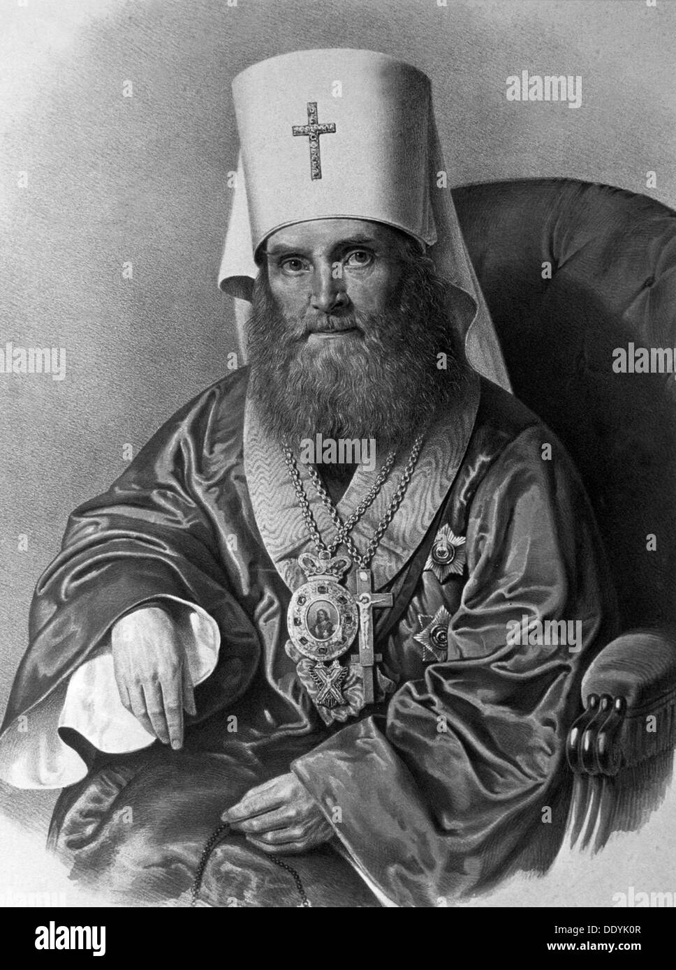 Il Metropolita Filaret (Drozdov) di Mosca, c xix secolo secolo. Immagini Stock