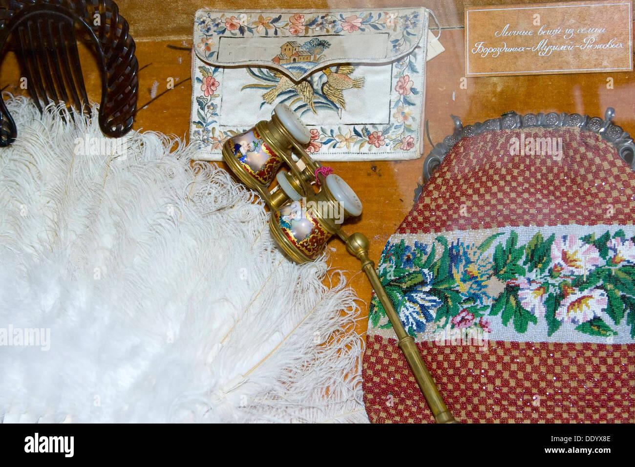 Theatre oggettistica e abbigliamento, xix secolo. Immagini Stock
