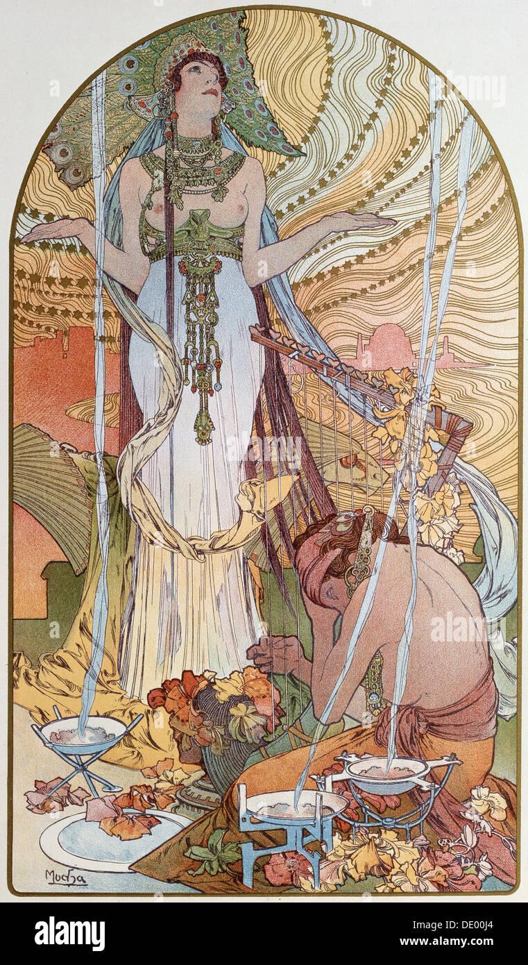 'Salambo', 1897. Artista: Alphonse Mucha Immagini Stock