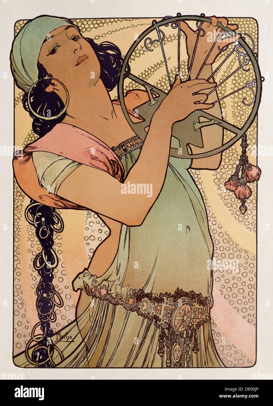 'Salome', 1897. Artista: Alphonse Mucha Immagini Stock