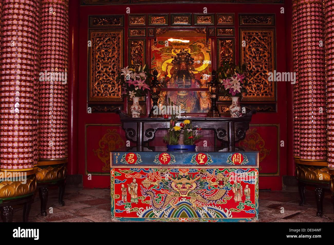Tempio Longshan, Taipei, Taiwan, Asia Immagini Stock