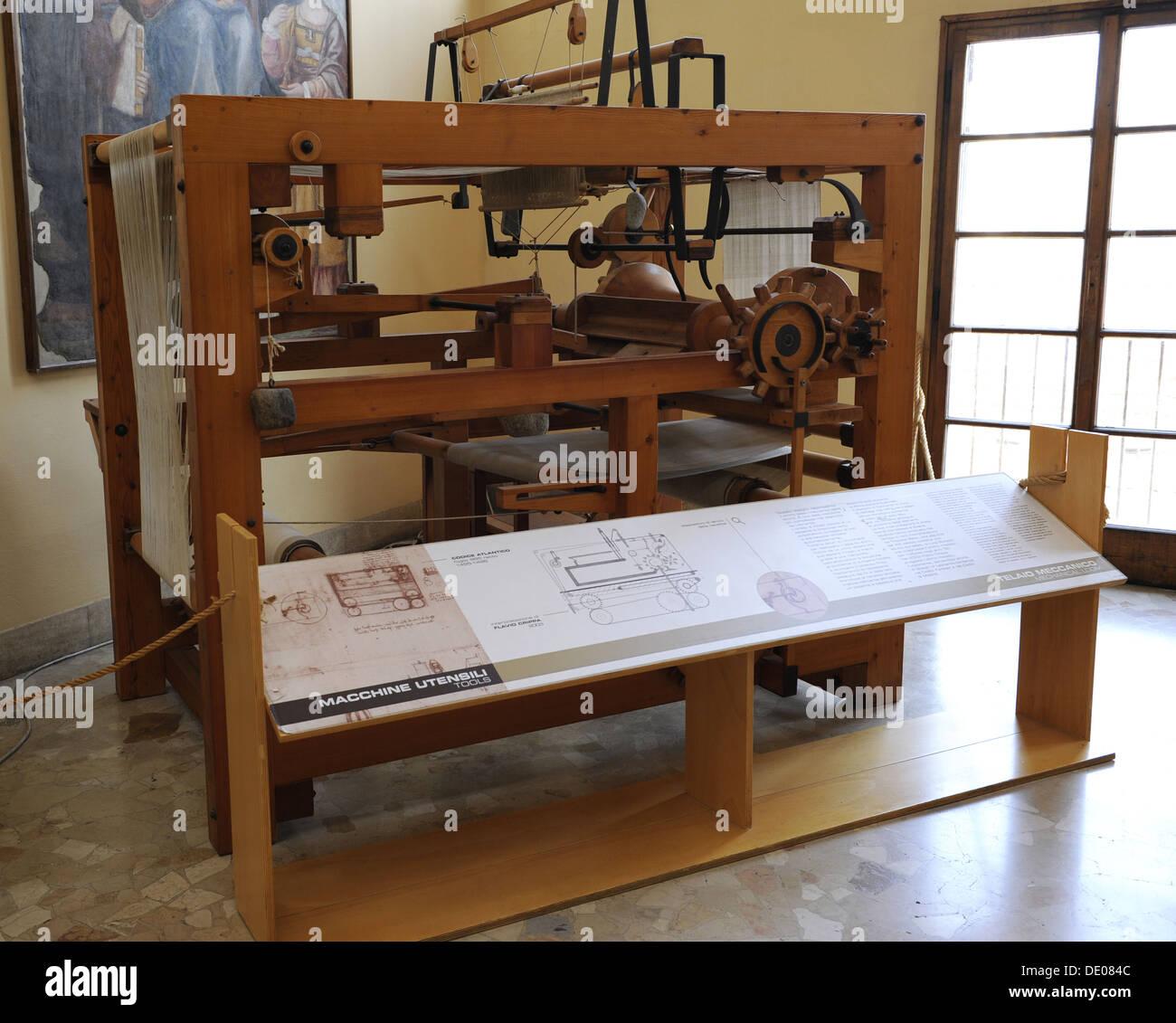 Studio Di Leonardo Da Vinci Macchine Di Tessitura Telaio