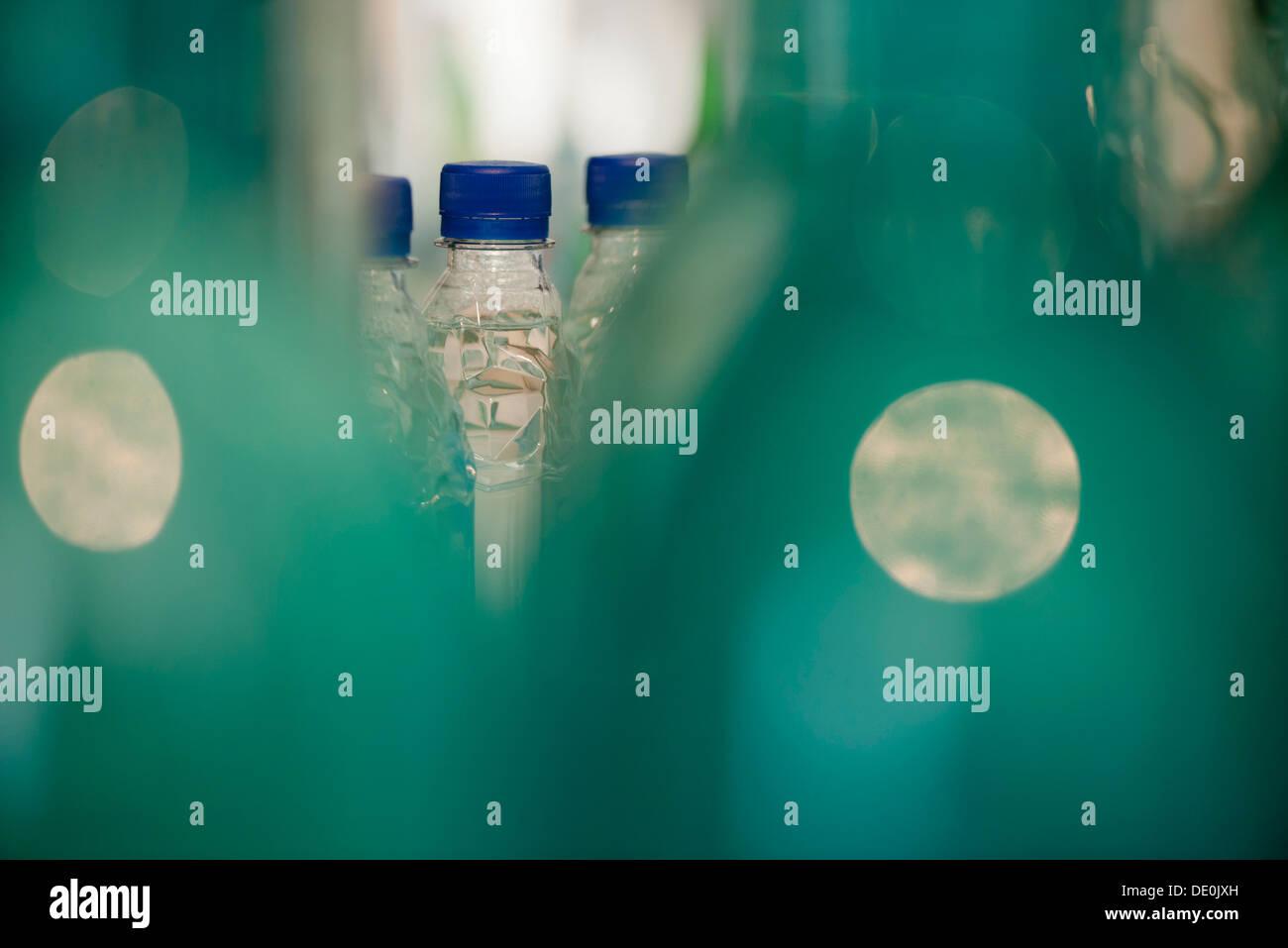 Acqua in bottiglia, close-up Immagini Stock