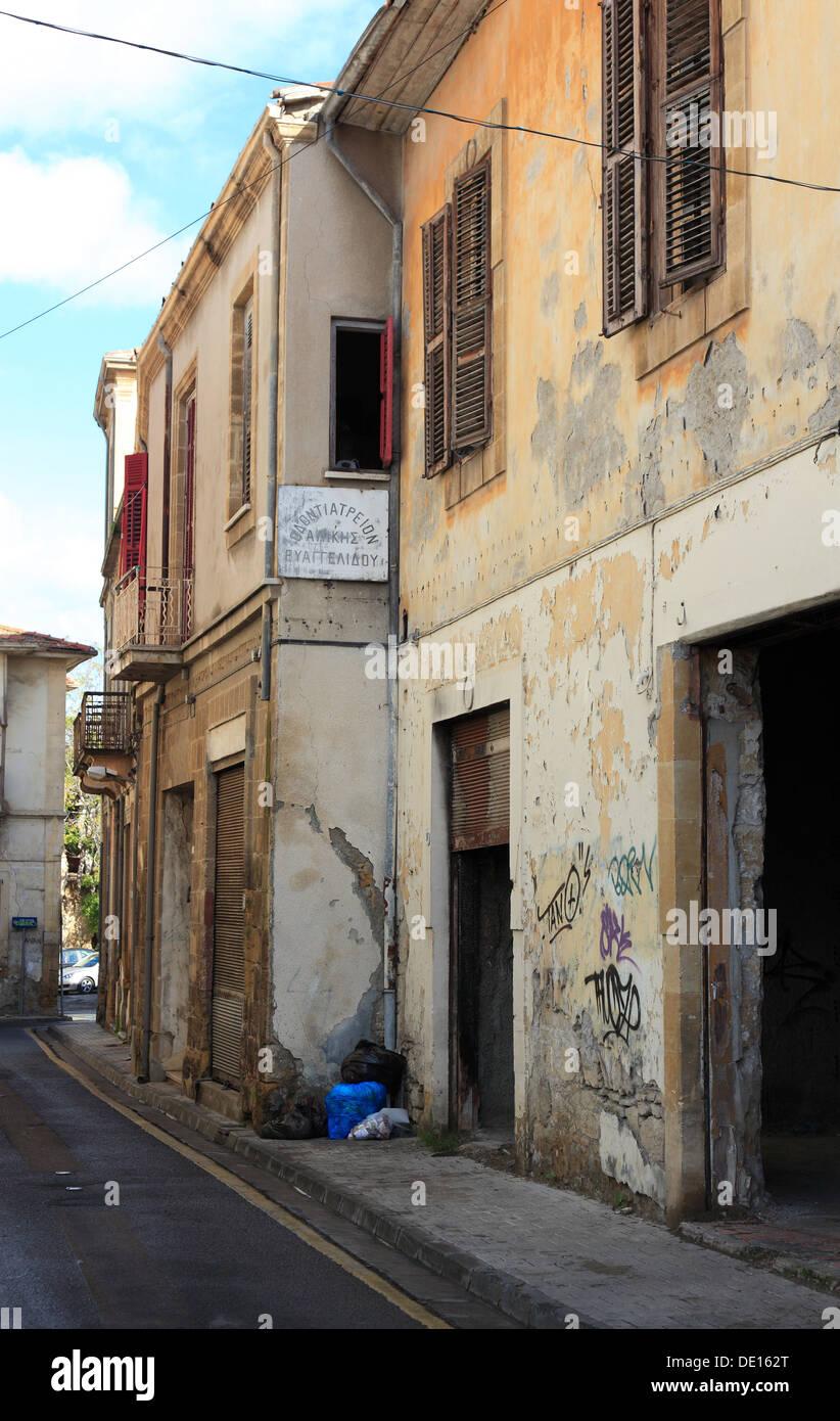 Cipro, Nicosia, Lefkosia, strade e vicoli della città vecchia Immagini Stock