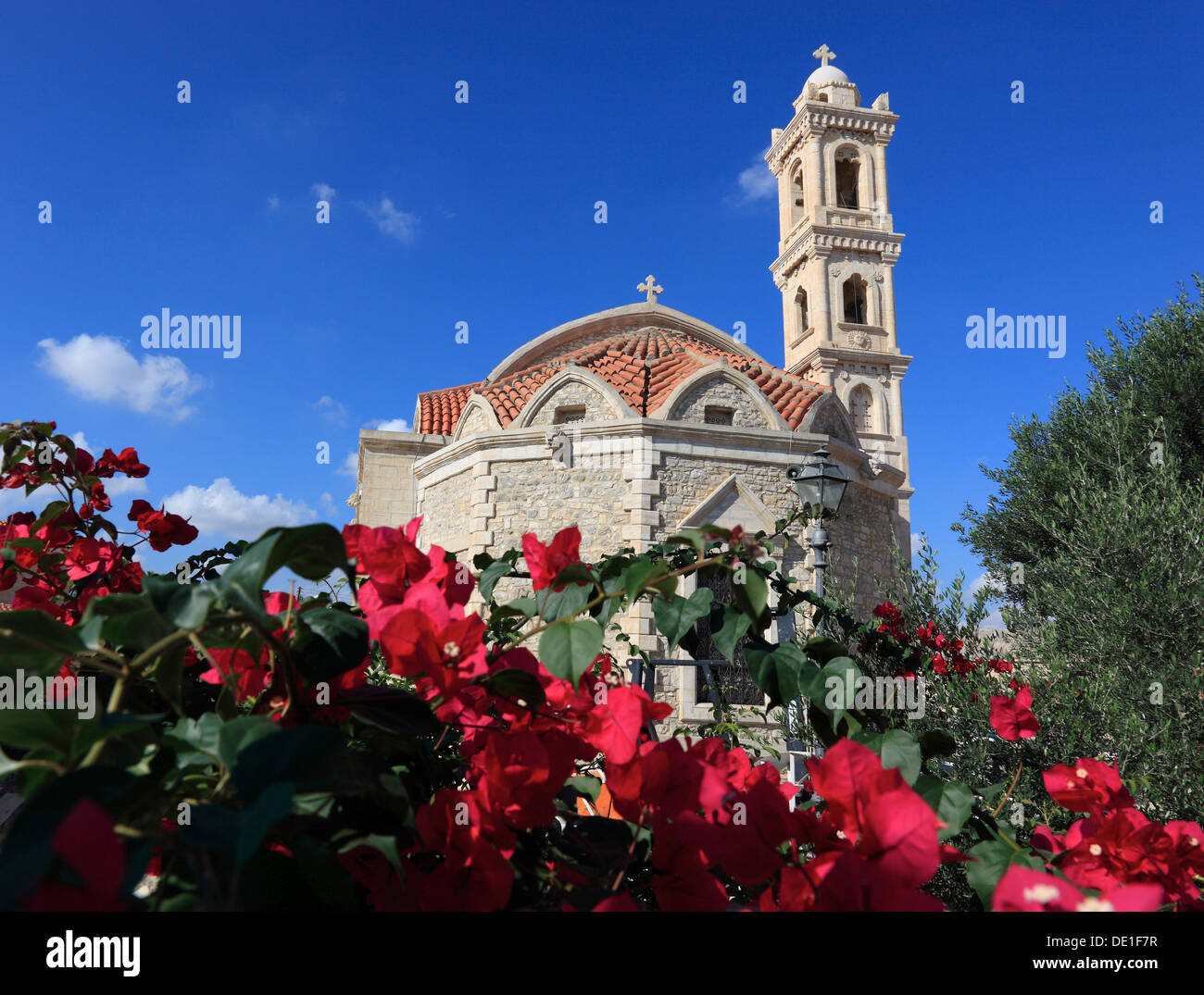 Cipro, Perivolia, posto a Kiti, chiesa locale Immagini Stock