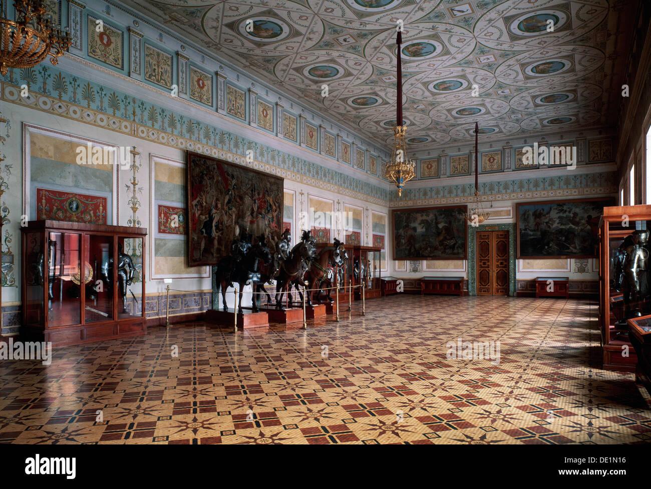 """"""" La sala del cavaliere (Arsenal) dell'Ermitage di San Pietroburgo"""", c xix secolo secolo. Artista: Leo von Klenze Immagini Stock"""