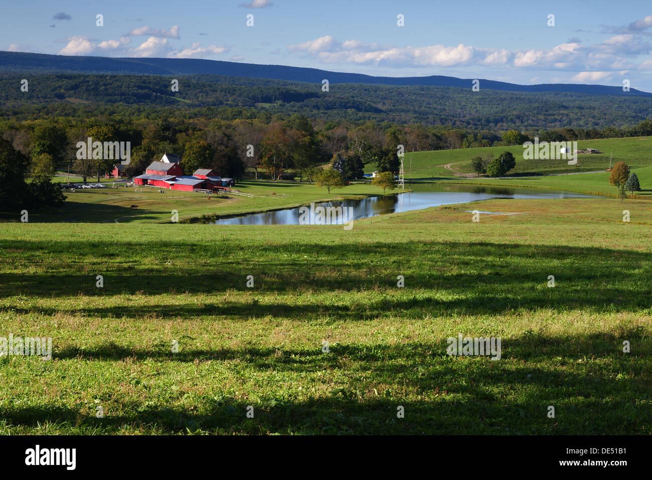 Azienda Agricola e Agriturismo di terreni a Fairview Hill Road Fredon Township Sussex County New Jersey USA Immagini Stock