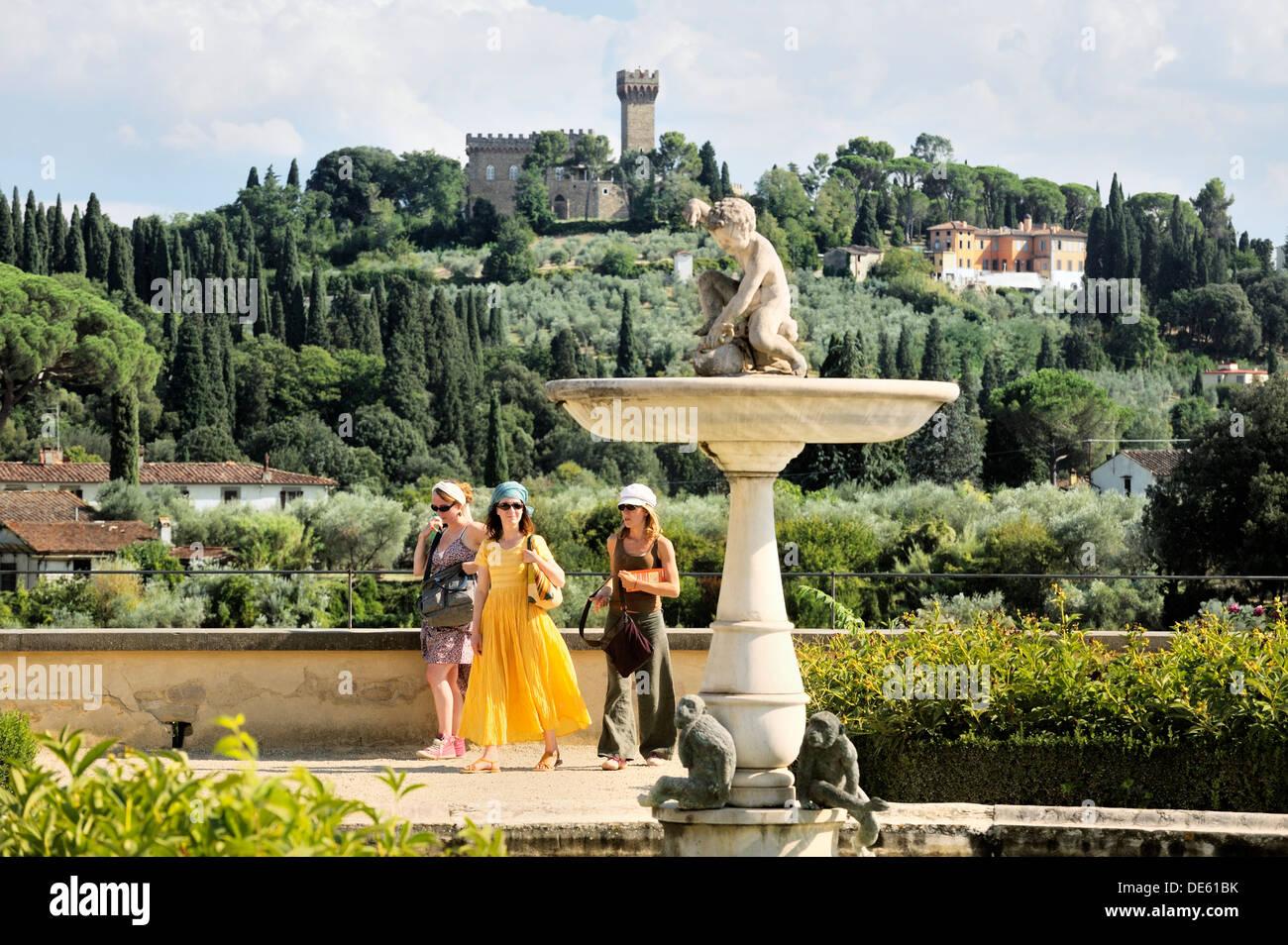 Firenze Toscana Italia A Sud Dalla Terrazza Superiore O