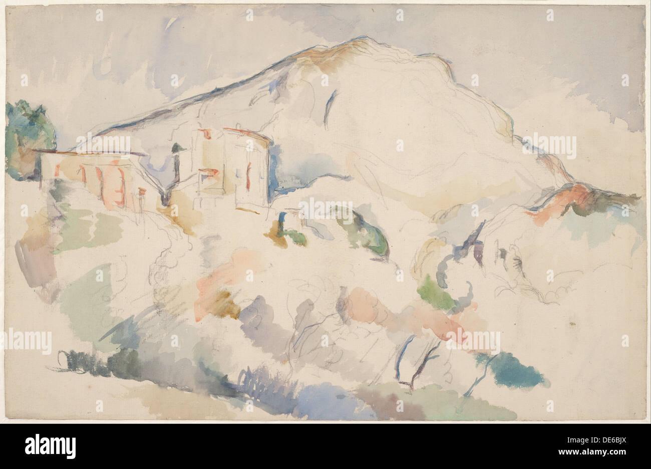 Château Noir e Mont Sainte-Victoire, 1890-1895 ca. Artista: Cézanne, Paul (1839-1906) Foto Stock