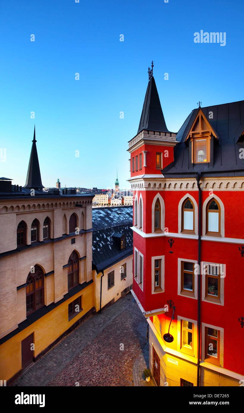 Edifici a Stoccolma (Svezia) Immagini Stock
