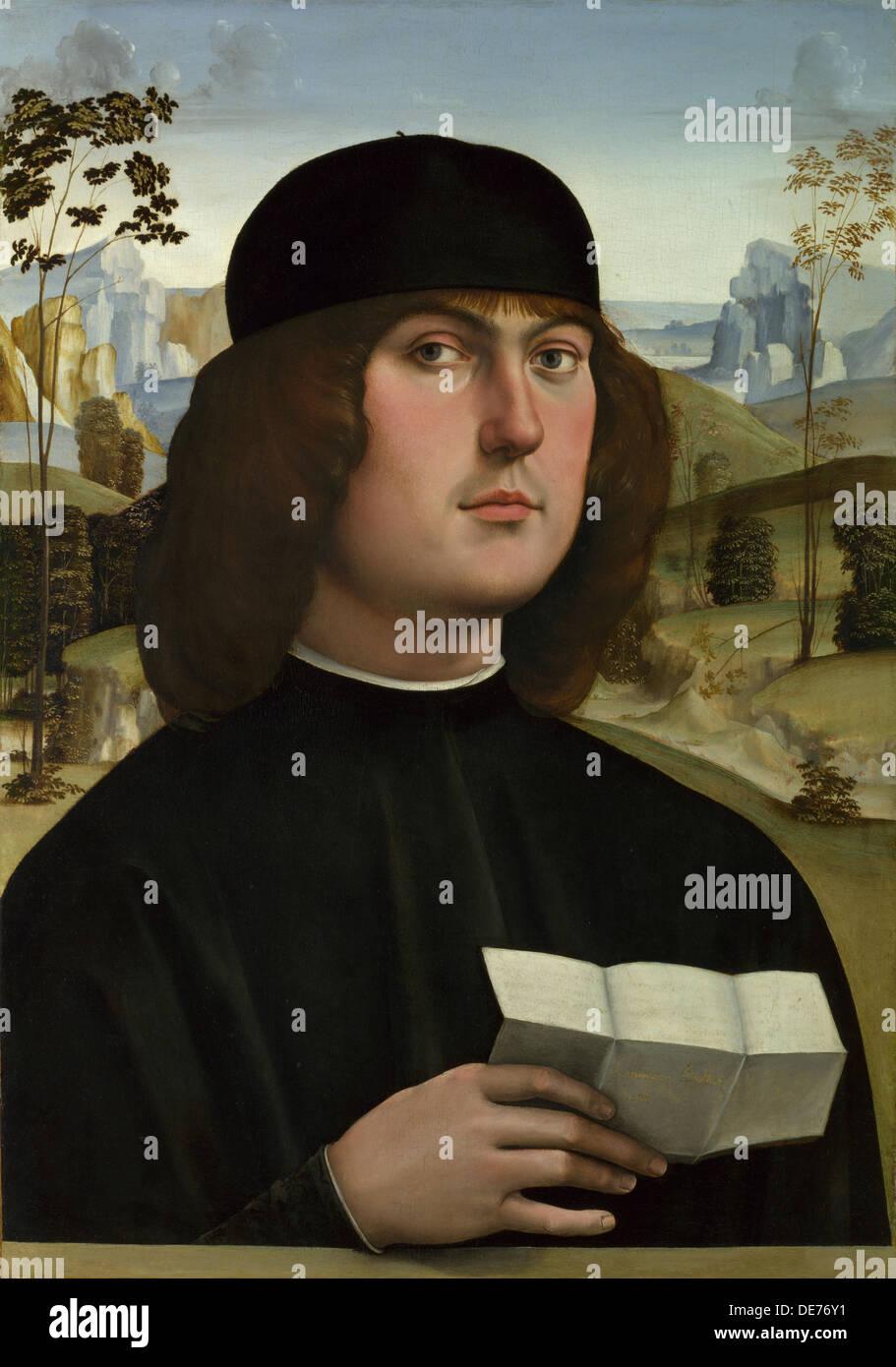Bartolomeo Bianchini, c. 1490. Artista: Francia, Francesco (1450-1517) Immagini Stock