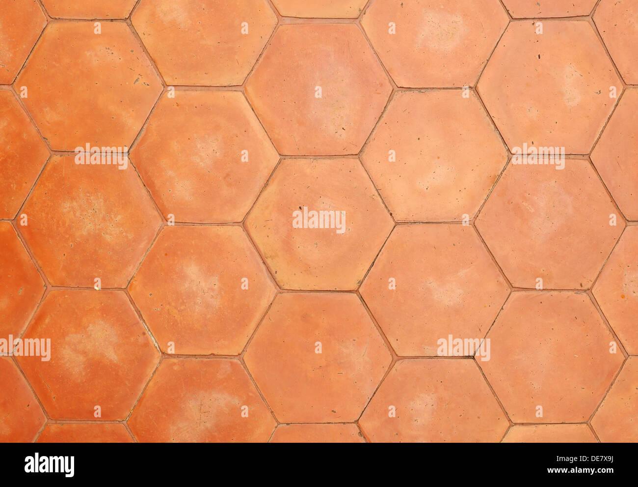 Esagonale piastrelle in argilla sfondo texture foto immagine