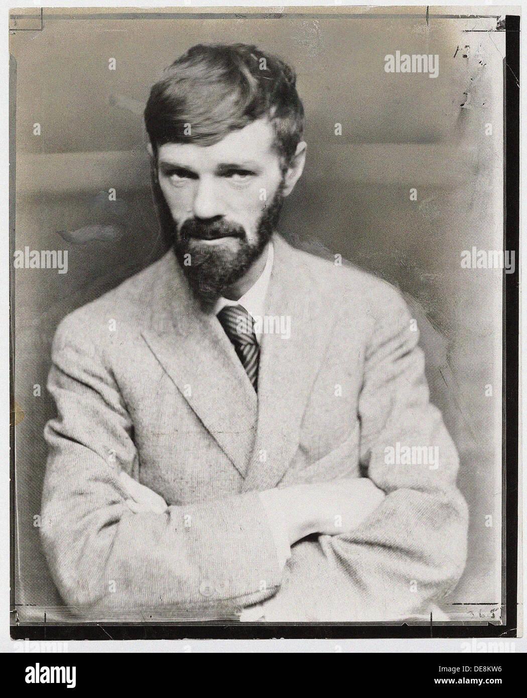 David Herbert Lawrence (1885-1930). Artista: Anonimo Immagini Stock