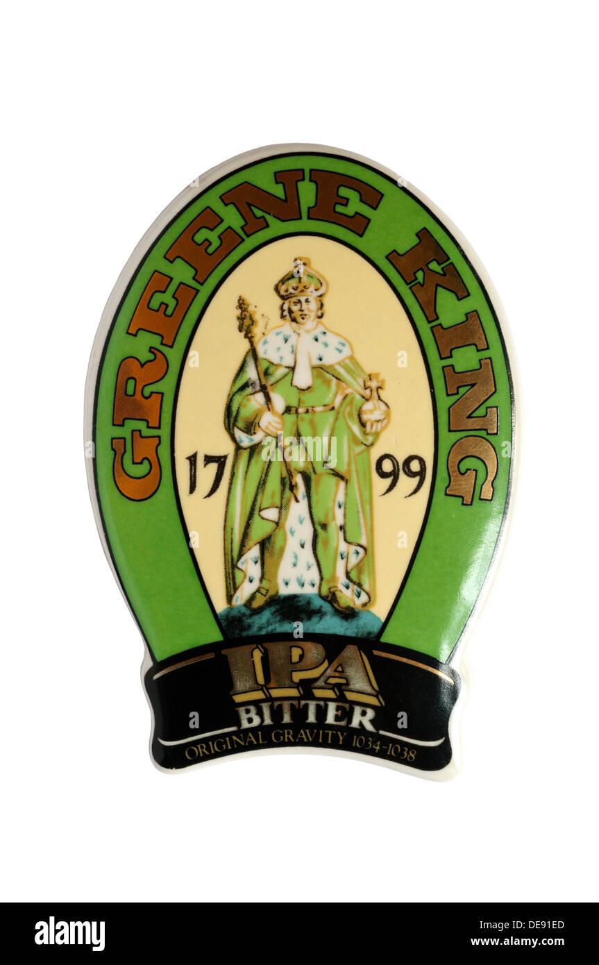 Una birra fascetta della pompa per la Greene King IPA amaro. Immagini Stock
