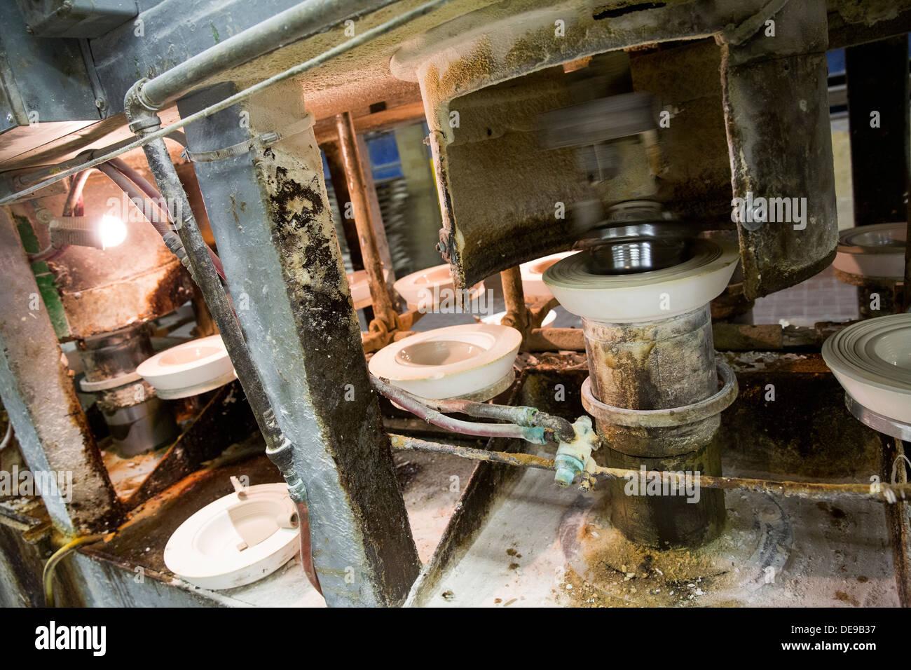 La fabbrica di Homer Laughlin China Company. Creatori di Fiesta posateria. Immagini Stock