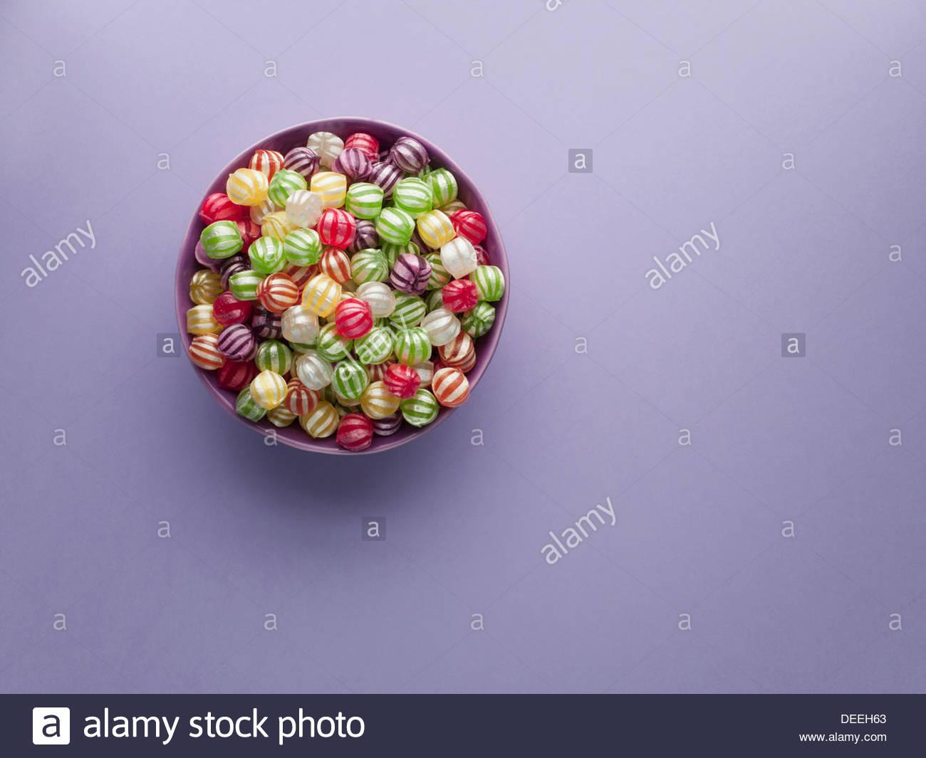 Vivace Hard Candy in vaso Immagini Stock