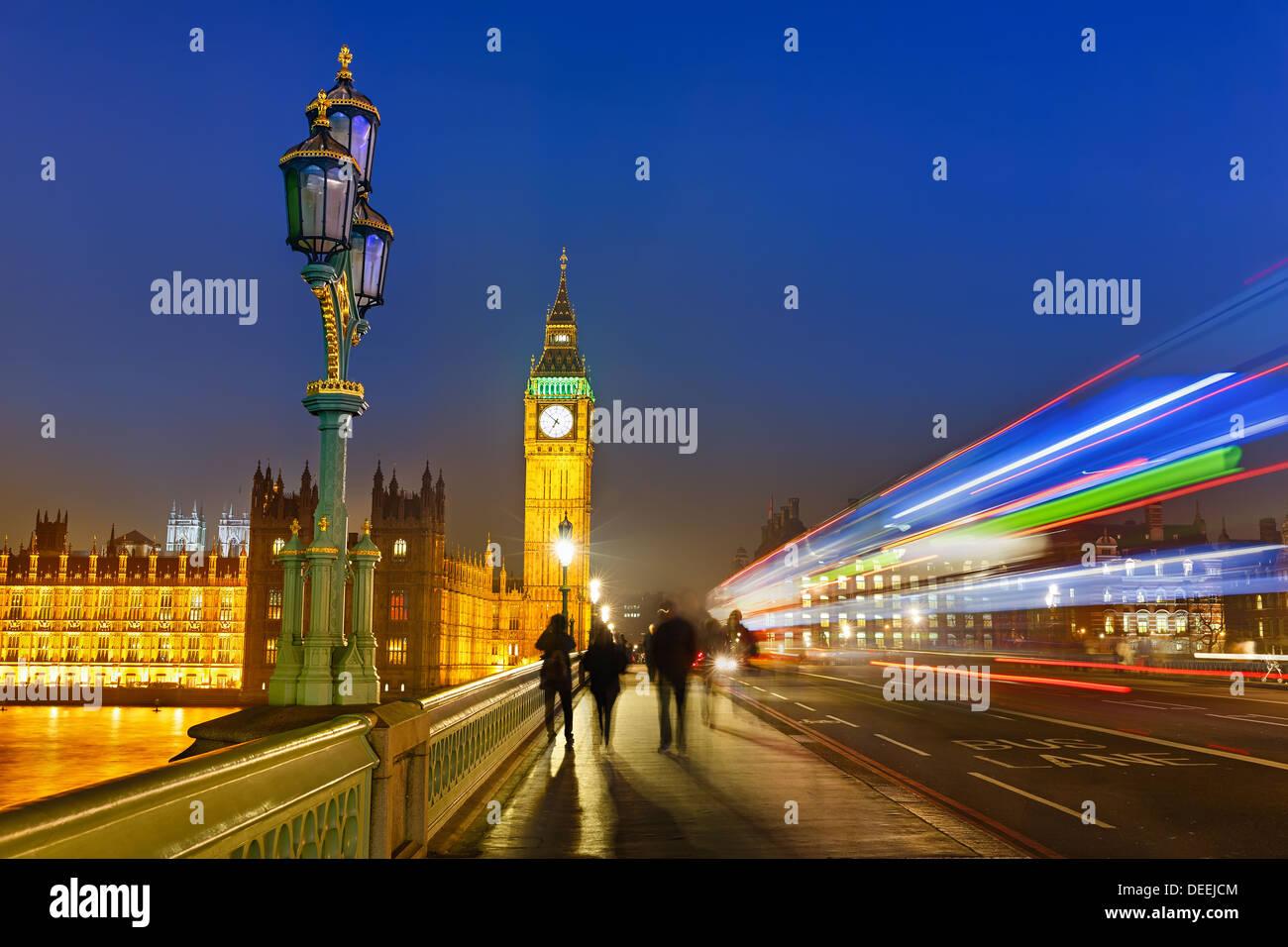 Londra di notte Immagini Stock