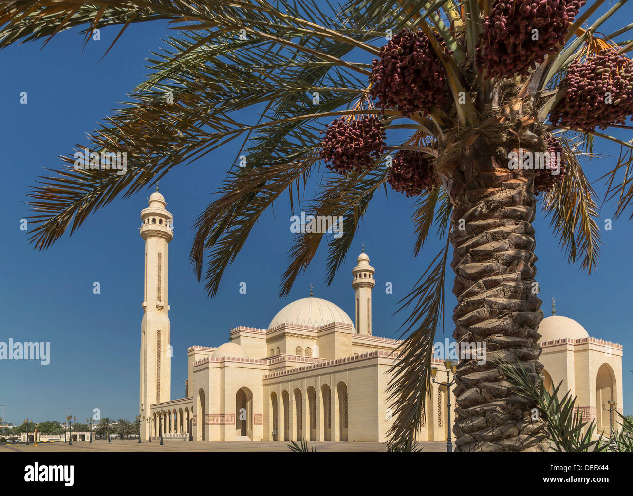 Al Fateh Grande Moschea, Manama, Bahrein, Medio Oriente Immagini Stock