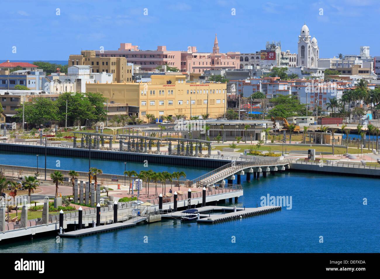 Bahia Urbana in San Juan, Puerto Rico, West Indies, dei Caraibi e America centrale Immagini Stock