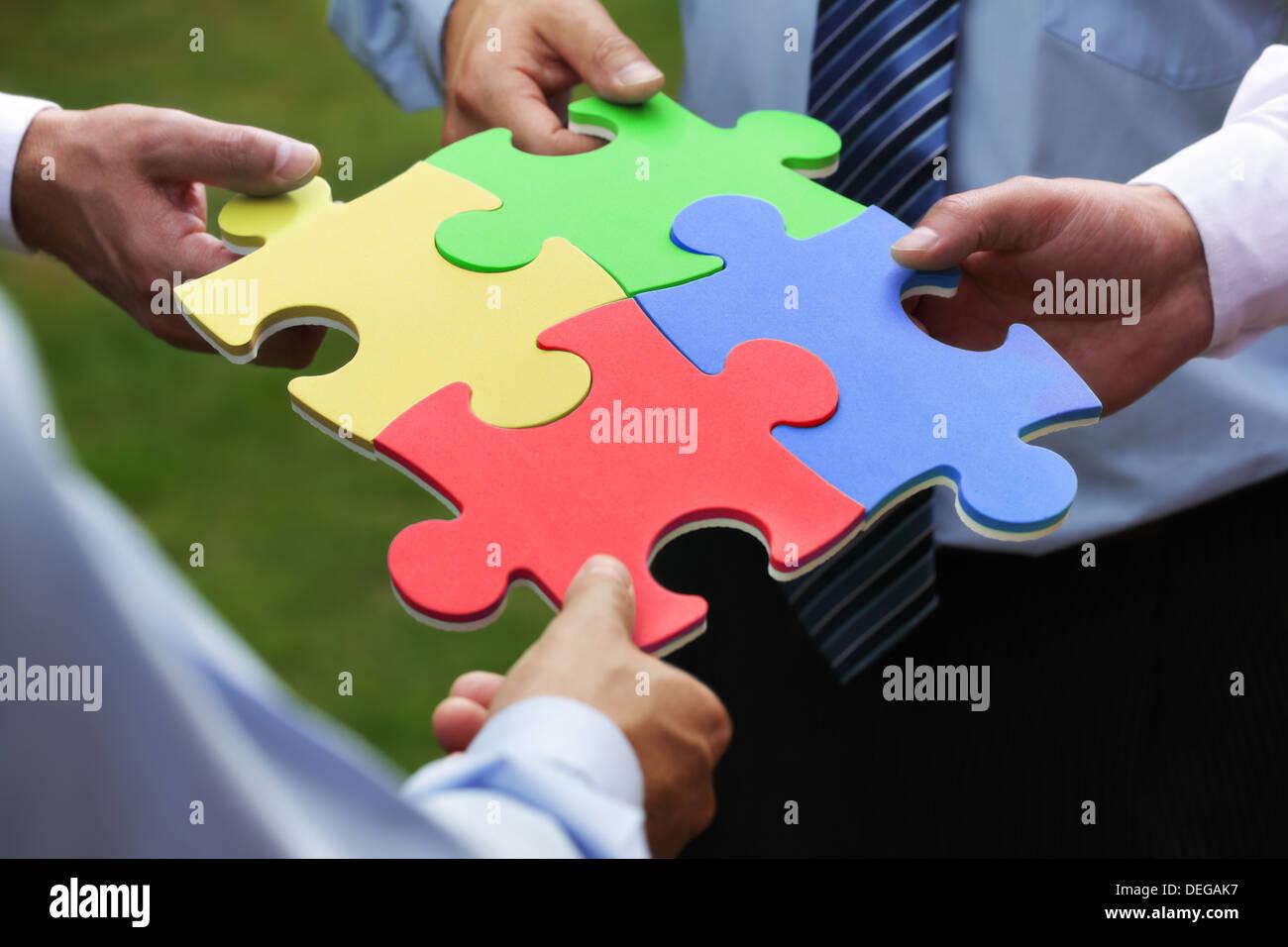 La soluzione aziendale Immagini Stock